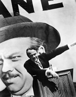 CITIZEN KANE. 1941. Orson Welles as Charles Foster Kane in 'Citizen Kane,' 1941