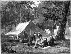 CIVIL WAR: CAMP, 1863. 'The Army of the Potomac - The Bedouin tent