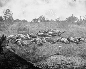 CIVIL WAR: GETTYSBURG, 1863. Bodies of Confederate soldiers killed at the Battle