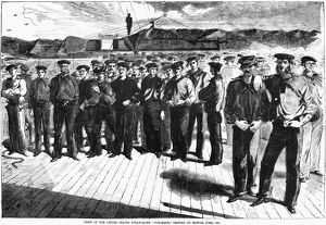 CIVIL WAR: SAILORS, 1861. 'Crew of the United States Steam-Sloop 'Colorado