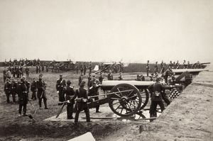 CIVIL WAR: UNION FORT. The 1st Connecticut Heavy Artillery at Fort Richardson in Virginia