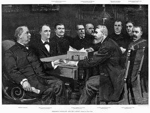 presidents/cleveland cabinet 1893 president grover cleveland