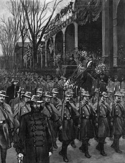 presidents/cleveland inauguration pennsylvania troops marching