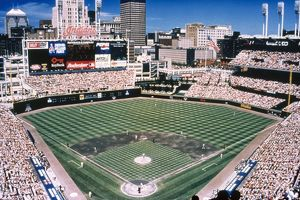 CLEVELAND: JACOBS FIELD. The home of the Cleveland Indians baseball team in Cleveland, Ohio