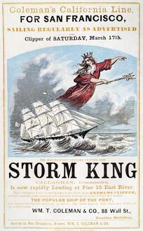 CLIPPER SHIP AD, c1848. American advertising poster for the clipper ship 'Storm King&#39