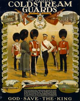 COLDSTREAM GUARDS, 1914. Recruiting poster for His Majesty's Coldstream Guards