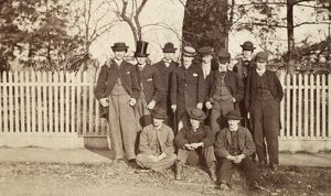 COLLEGE CLUB, c1866. Members of the 'Bourbon Club' at an unidentified American