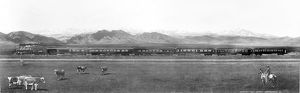 COLORADO: RAILROAD, 1899. Retouched panoramic photograph of a train on the Great