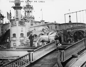 CONEY ISLAND: CIRCUS, c1910. The open-air circus at Coney Island in Brooklyn, New York