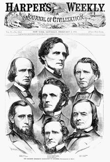 CONGRESS: SECESSION, 1861. 'The seceding Mississippi delegation in Congress