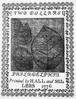 Congressional two dollar banknote, 1776.