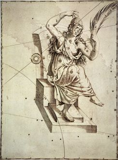 CONSTELLATION: CASSIOPEIA. The constellation Cassiopeia: engraving from Johann Bayer's