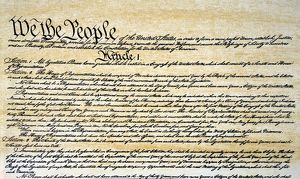 CONSTITUTION. Preamble and beginning of Article I of the Constitution of the United States