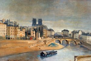 COROT: ORFEVRES QUAI. The Quai in Orfevres and the St
