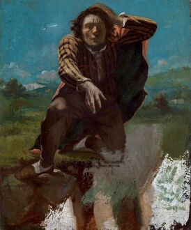 fine art/courbet mad fear the man mad fear oil canvas
