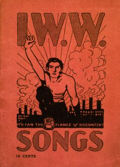 Cover of the Industrial Workers of the World 'Little Red Songbook,' c1905