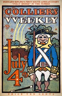 The cover of the July Fourth issue of 'Collier's Weekly' magazine, 7