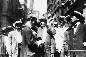 finance commerce/curb stock brokers c1916 stock brokers trading