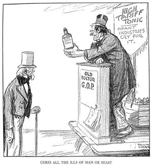 'Cures All the Ills of Man or Beast.' Cartoon, 1921, by Rollin Kirby commenting