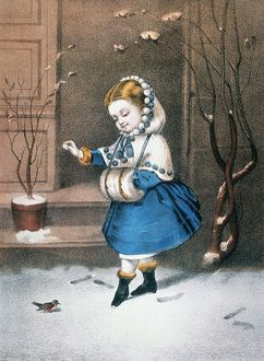 CURRIER & IVES: LITTLE SNOWBIRD. Undated lithograph by Currier & Ives, c1860.