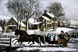 CURRIER & IVES: WINTER MORNING. Winter morning in the country