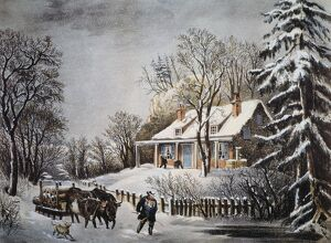 CURRIER & IVES: WINTER SCENE. 'The Snow Storm