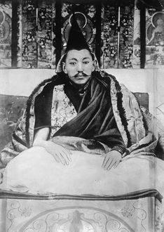 DALAI LAMA (1876-1933). The 13th Dalai Lama, Thubten Gyatso. Photograph, c1905