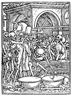 DANCE OF DEATH, 1538. 'Death Goes Forth