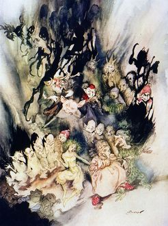 halloween/dance trolls illustration arthur rackham 1867 1939