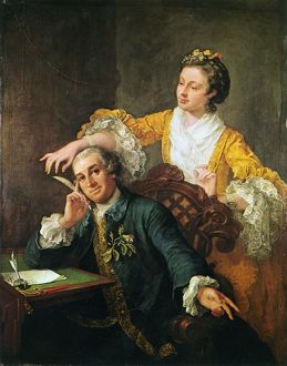 DAVID GARRICK (1717-1779). English actor, producer, and dramatist. With his wife