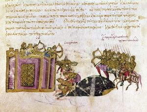 DEFENSE OF CONSTANTINOPLE. The defense of Constantinople against a Byzantine rebellion