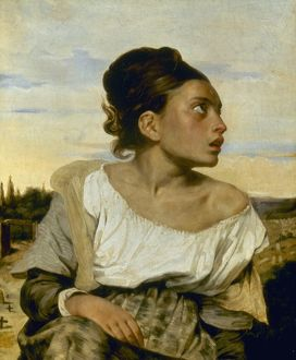 DELACROIX: ORPHAN, 1824. Eugene Delacroix: Orphan Girl at Cemetery. Oil on canvas, 1824.