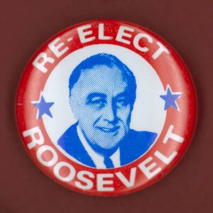 Democratic presidential campaign button from Franklin D