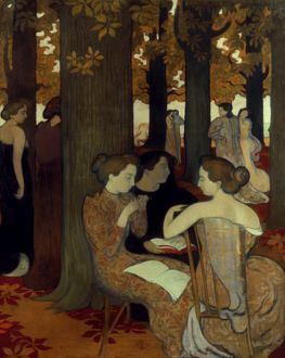 DENIS: MUSES, 1893. The Muses. Oil on canvas by Maurice Denis, 1893.