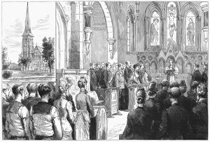 DENMARK: CHURCH OF ENGLAND. Consecration of the new Church of England Church of St
