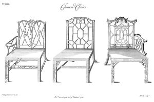 Designs for chairs in the Chinese manner by Thomas Chippendale, 1753.