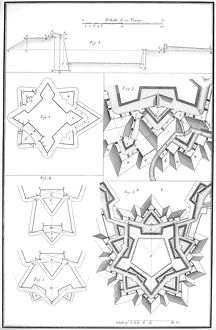 plans diagrams/details fortress architecture relief view fortress