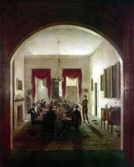 DINNER PARTY, c1820. 'The Dinner Party