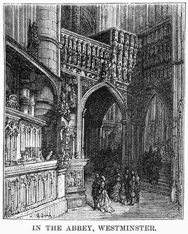 DORE: LONDON: 1872. 'In the Abbey, Westminster