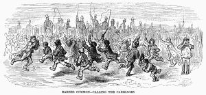 DORE: LONDON: 1872. 'Barnes Common - Calling the Carriages