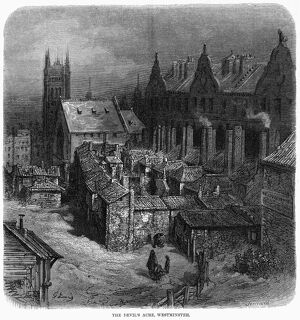 DORE: LONDON: 1872. 'The Devil's Acre, Westminster