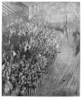 DORE: LONDON, 1872. 'Finish of the Race