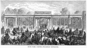 DORE: LONDON, 1872. 'Hyde Park Corner - Piccadilly Entrance