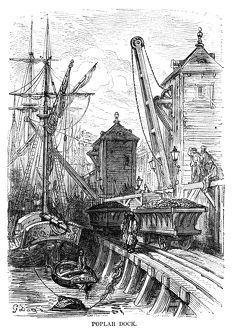 DORE: LONDON, 1872. 'Poplar Dock.' Wood engraving after Gustave Dore,