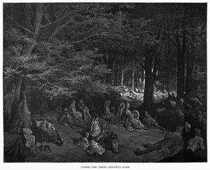 DORE: LONDON, 1872. 'Under the Trees, Regent's Park