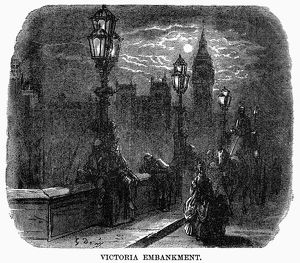 DORE: LONDON: 1872. 'Victoria Embankment