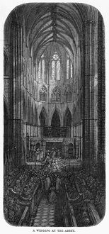 DORE: LONDON, 1872. 'A Wedding at the Abbey