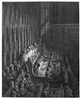 DORE: LONDON, 1872. 'Westminster Abbey - The Choir