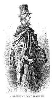 DORE: LONDON, 1873. 'A Greenwich Boat Traveler.' Wood engraving after Gustave Dore
