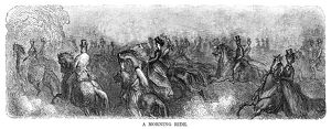 DORE: LONDON, 1873. 'A Morning Ride.' Wood engraving after Gustave Dore